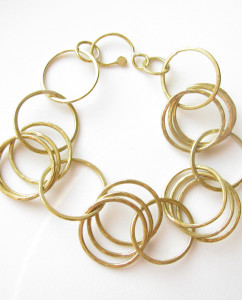 Brass Triple-Link Chain Bracelet