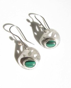 Malachite & Sterling Silver Earrings