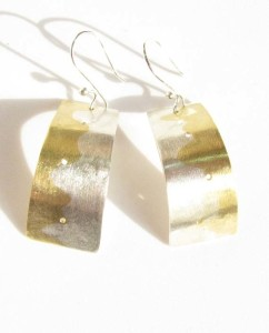 Sterling Silver and Brass Marriage of Metals Earrings