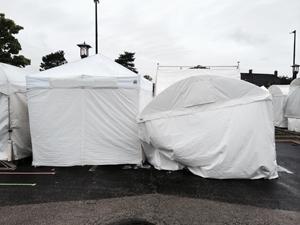 Front Tent Damage