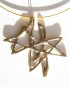 Abstract White Bronze Necklace w/Gold Vermeil Neck Cable
