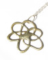 "Abstract Bronze ""Flower"" Necklace"