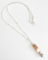Copper and Sterling Silver Marriage-of-Metals Necklace with Gray Glass Pearl