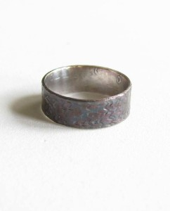 Hand-Forged Sterling Silver Antiqued Zig-Zag Ring