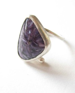 Sterling Silver & Russian Charoite Ring