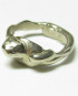 White Bronze Pillar Ring, Size 6