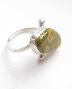 Sterling Silver and Ocean Jasper Ring