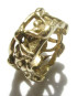 Bronze Abstract Thick Ring, Size 11