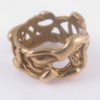"""Bronze Abstract """"Vines"""" Thick Ring, Size 11"""