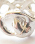 Sterling Silver Abstract Close Vines Band, Size 6.5