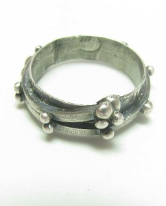 Sterling Silver Cast Dot Band