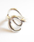 Sterling Silver Abstract Double Circle Ring, Size 6