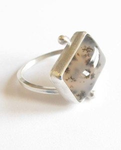 Sterling Silver and Fused Glass Ring