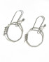 Sterling Silver and Antiqued Sterling Silver Wire Wrap Octagon Earrings