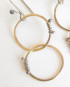 Gold-Filled and Sterling Silver Double Circle Wrap Earrings