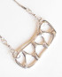 Abstract Sterling Silver Rectangle Zig-Zag Necklace