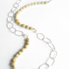 Sterling Silver, Job's Tears, and Pearl Asymmetrical Chain Necklace