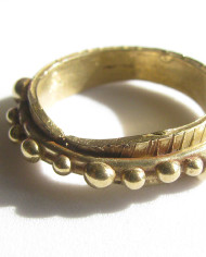 Bronze Small Textured Dot Ring, Size 5