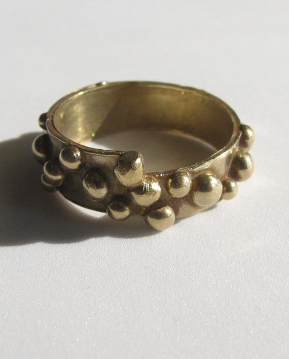 Bronze Dot Band, Size 10