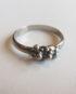 Sterling Silver Thin Rectangular Dot Ring, Size 9