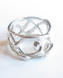 Abstract Sterling Silver Vine Band Ring, Size 7.5