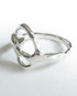 Abstract Sterling Silver Teardrop Spiral Ring, Size 9.5