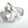 Abstract Sterling Silver Big Swirl Ring, Size 5.75