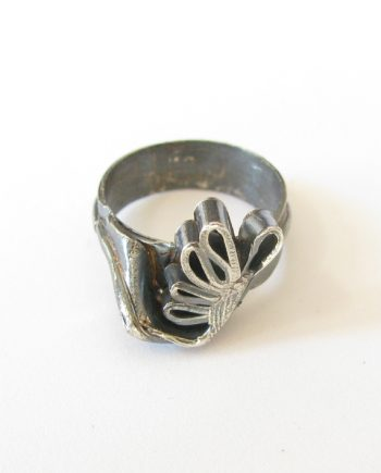"Antiqued Sterling Silver Sculpted ""Butterfly"" Ring, Size 6.75"