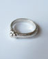 Sterling Silver Textured Flower Ring, Size 9