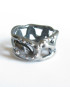 "Antiqued Sterling Silver ""Y Dot Vine"" Band Ring, Size 5.5"