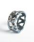"Antiqued Sterling Silver ""Y Dot Vine"" Band Ring, Size 5.5"