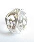 """Sterling Silver Narrow """"Vine"""" Band, Size 8.5"""