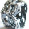 "Antiqued Sterling Silver ""Vine Dot"" Band Ring, Size 8"