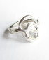 Sterling Silver Double Circle Ring, Size 5.5