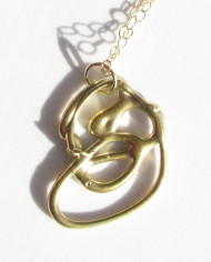 """Abstract Bronze """"Inner Circle"""" Necklace"""