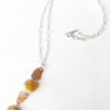 Australian Mookaite, Copper and Sterling Silver Etched Necklace