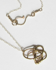 Abstract Bronze Small Swirly Necklace