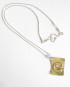 Brass and Sterling Silver Swirl Necklace