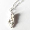 Abstract Sterling Silver Long Twiggy Necklace
