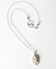 Abstract Sterling Silver Layered Oval Necklace