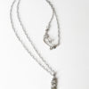 Antiqued Abstract Sterling Silver Layered Small Long Necklace