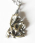 Antiqued Abstract Sterling Silver Layered Raw Triangle Necklace
