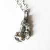 Antiqued Abstract Sterling Silver and 14k Gold Layered Nugget Necklace