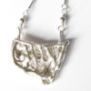 Abstract Sterling Silver Layered Medallion Necklace