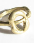 """Bronze """"Open Circle"""" Ring, Size 7.75"""