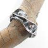 Antiqued Sterling Silver Ribbon Leaf Ring, Size 10.75