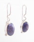 Sterling Silver and Russian Charoite Squiggle Hook Earrings
