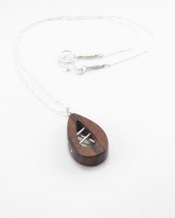 Brown Ebony Open Necklace