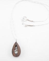Brown Ebony Open Necklace