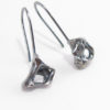 Abstract Layered Sterling Silver Cast Drop Earrings – Small Squares